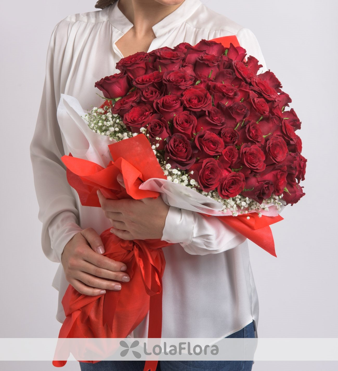 Lolaflora international flower delivery service bouquet of 60 red roses wholehearted love izmirmasajfo
