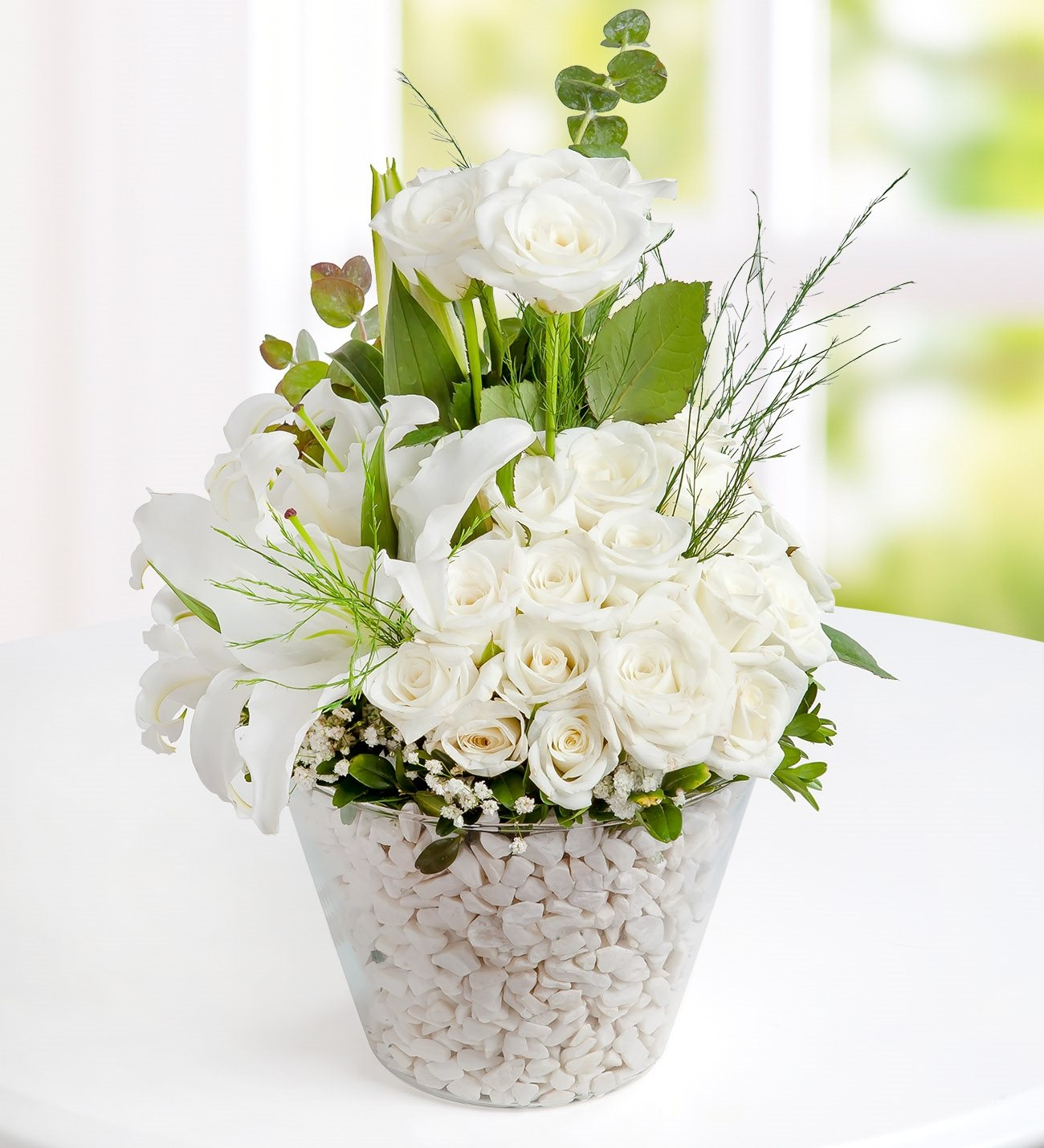 Magical beauty of flowers kc143540 magical beauty of white roses and lilies izmirmasajfo Images
