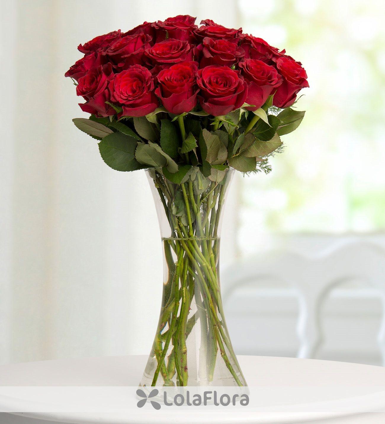 19 rosas rojas corazones rojos