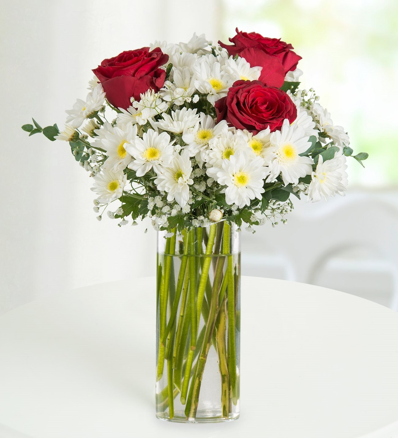 Symbol of love roses and daisies kc143589 3 red roses and daisies symbol of love izmirmasajfo
