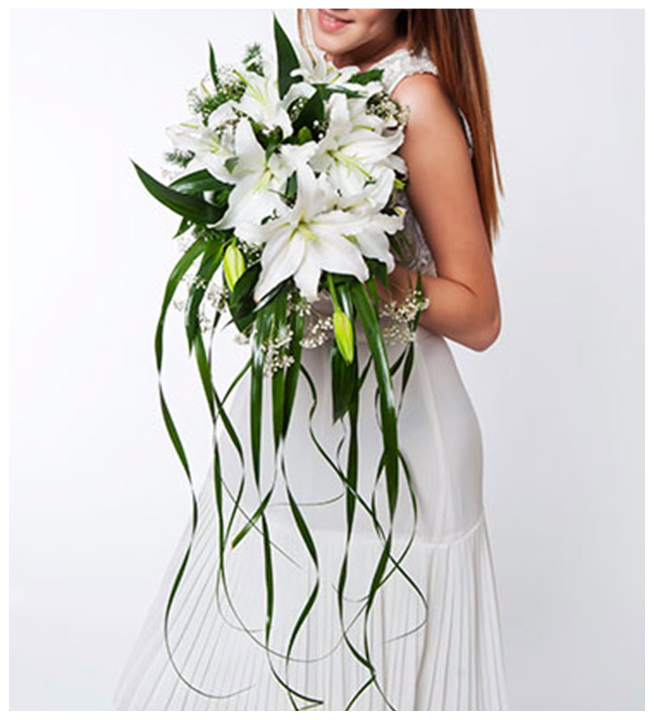 Lilies love wedding bouquet wedding bouquet of white lilies izmirmasajfo