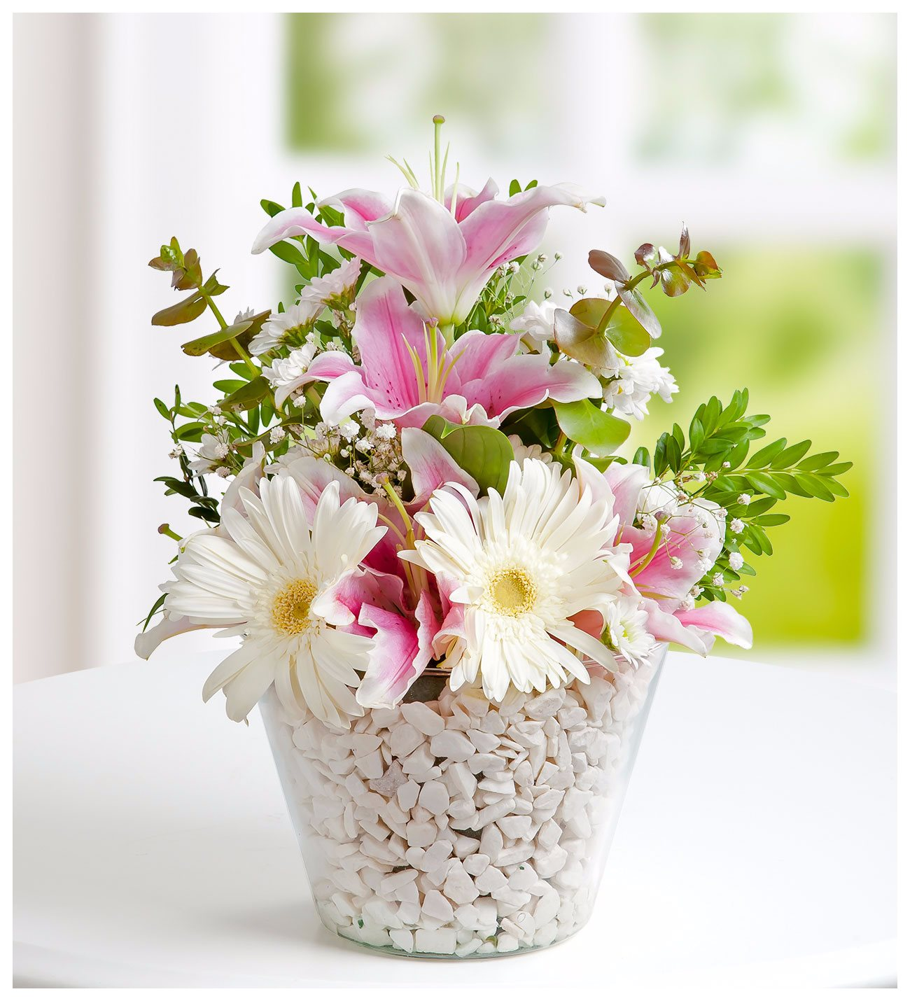 Fresh pink lily white gerbera flower bouquet lolaflora pink lilies and white gerberas bundle of joy mightylinksfo