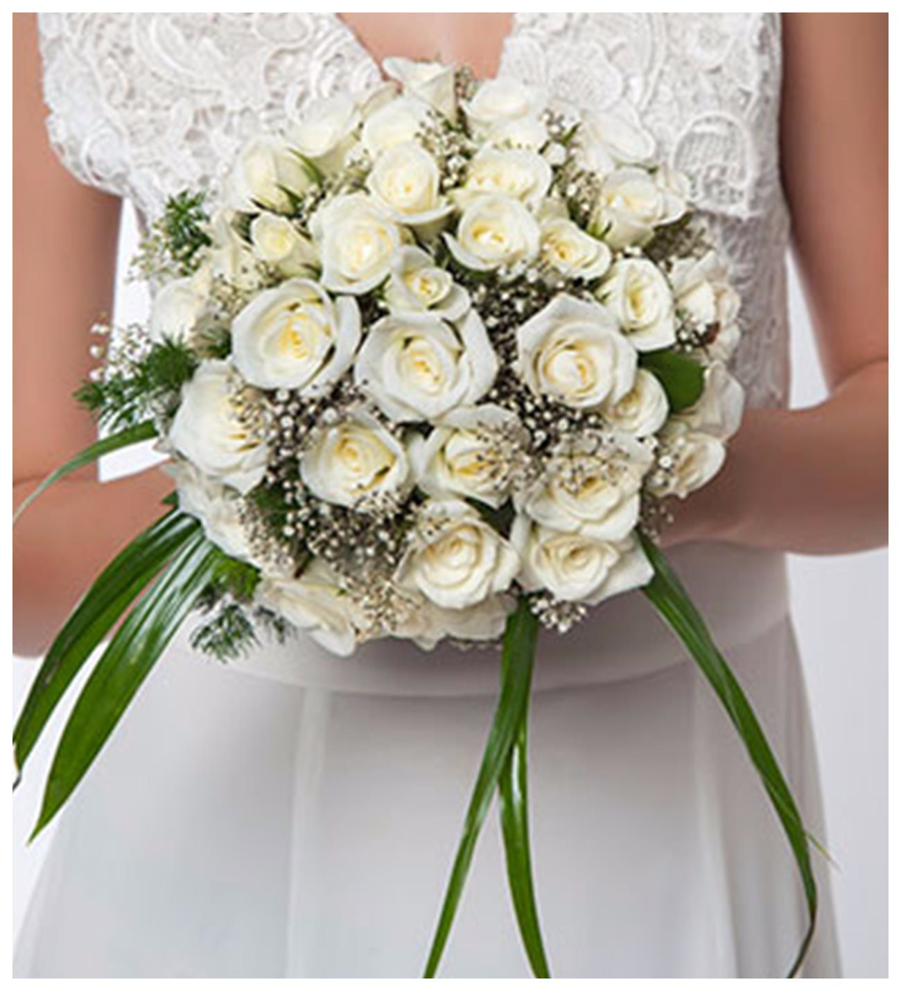 White Happiness Wedding Bouquet