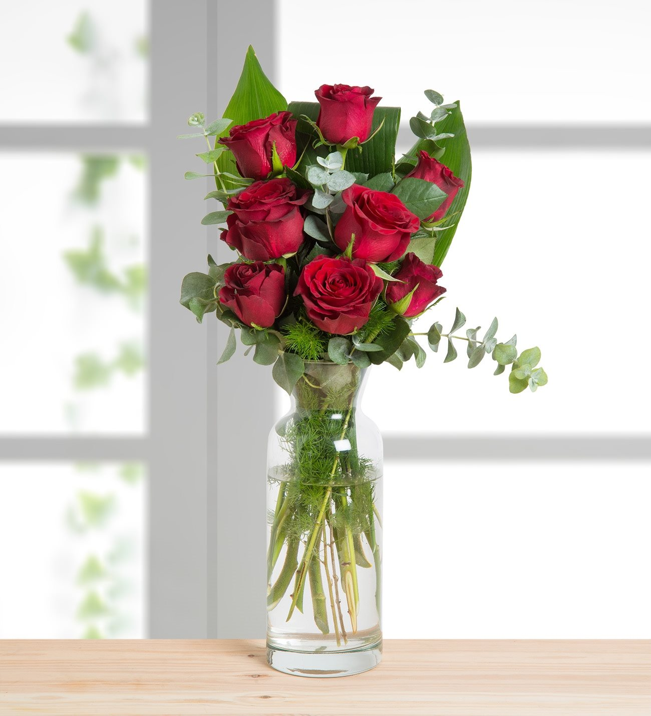 8 Red Roses Heart Warming Message
