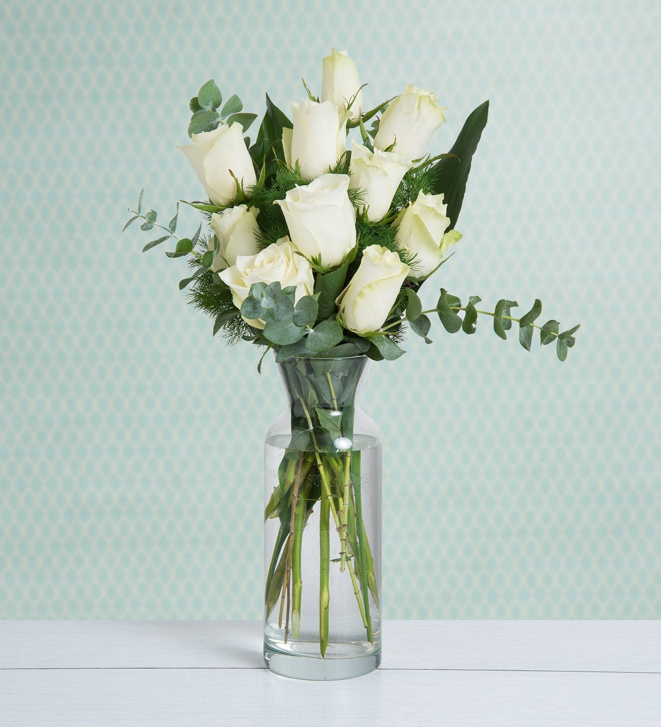 10 White Roses Purity Of You
