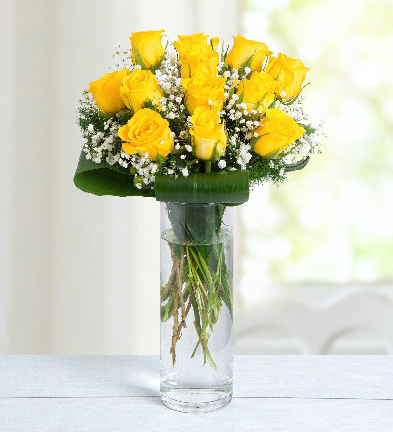 12 Yellow Roses - Good Morning Sunshine