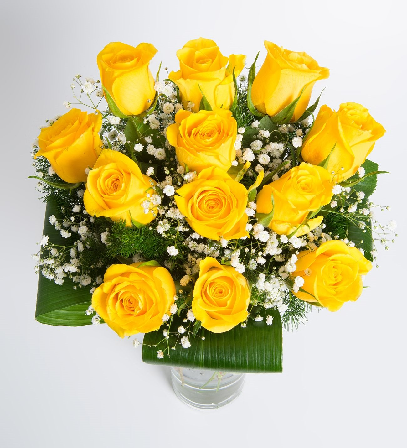 12 Yellow Roses Good Morning Sunshine