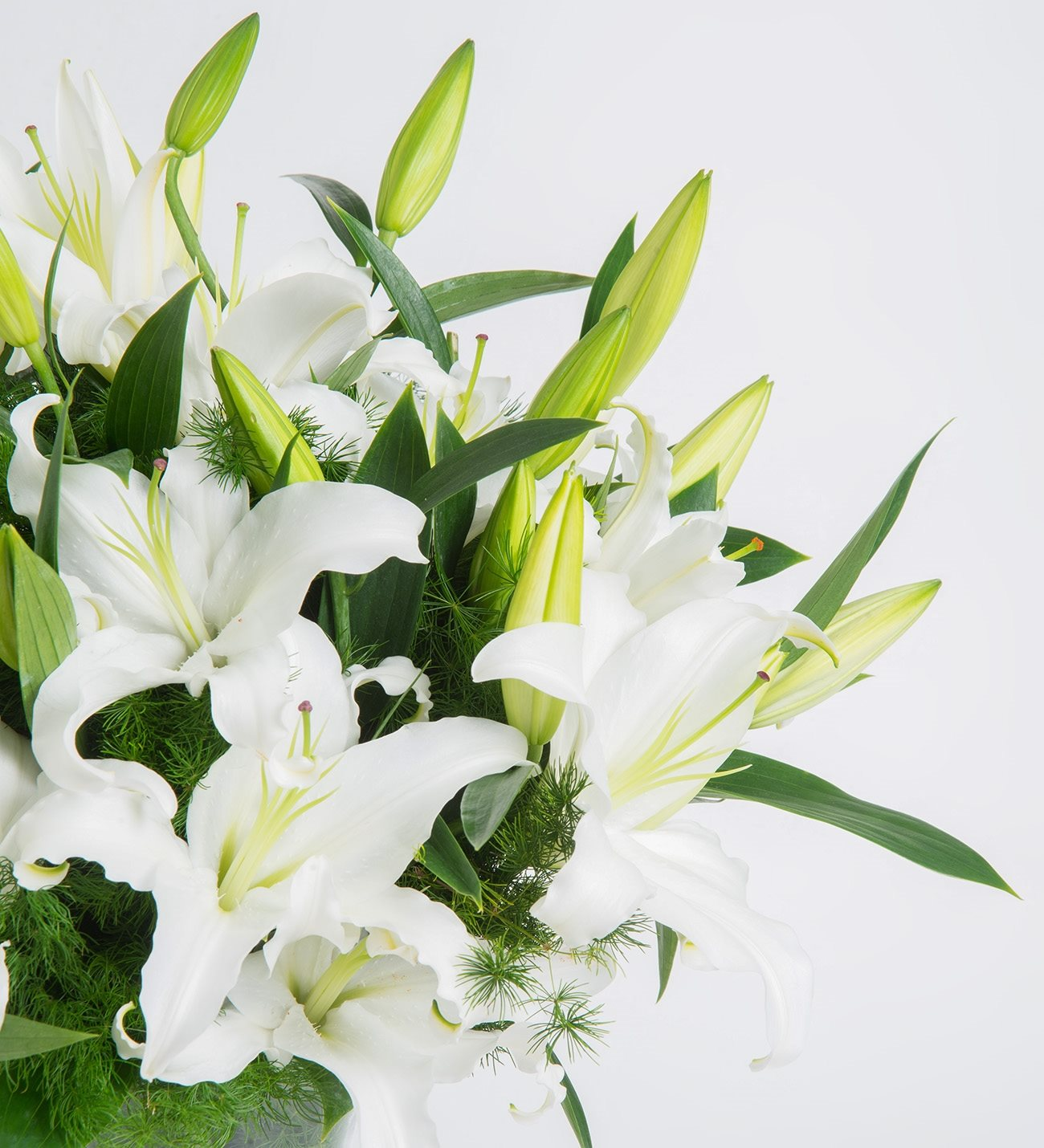 White lilies charming jewel izmirmasajfo