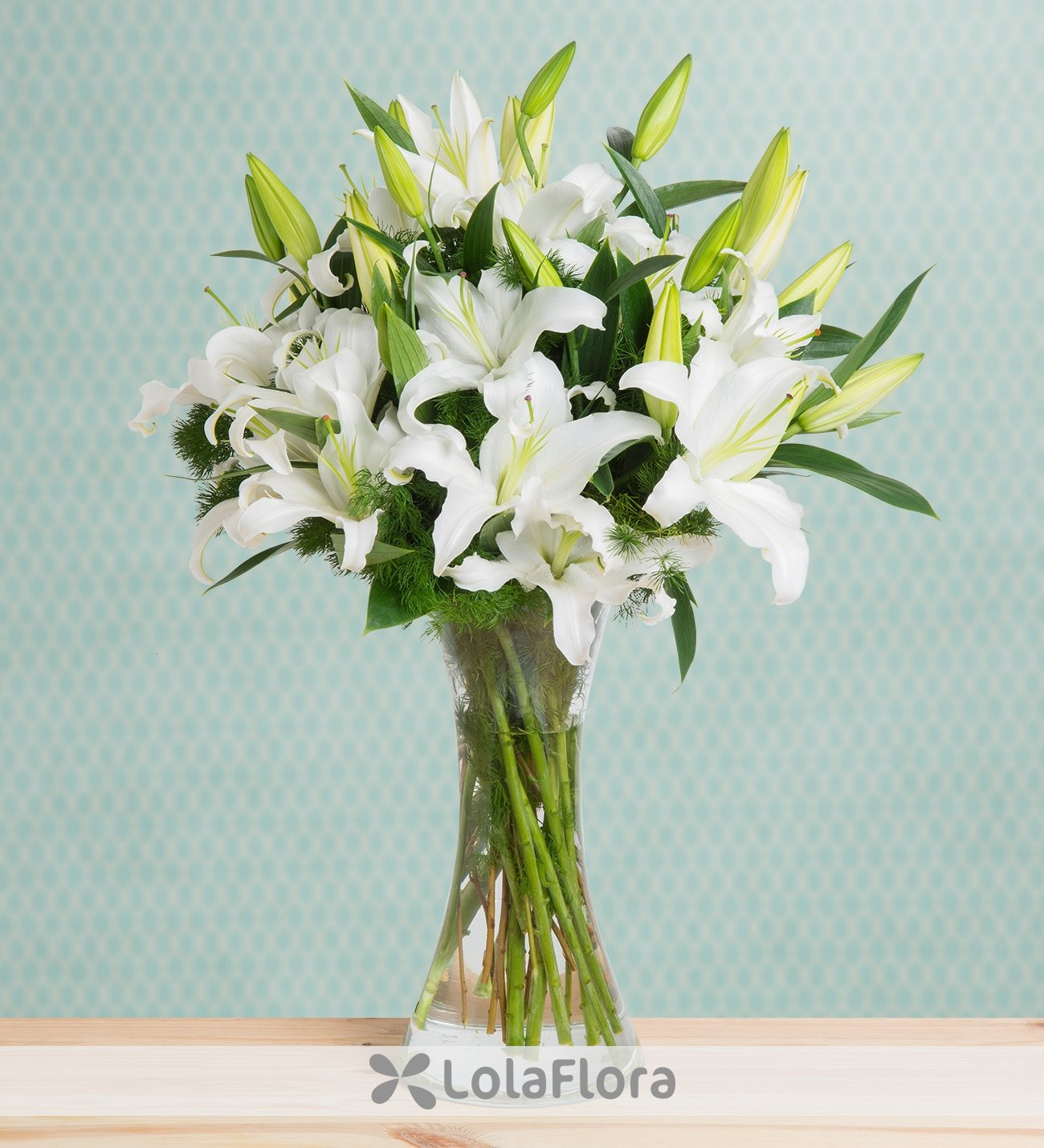 white lilies charming jewel