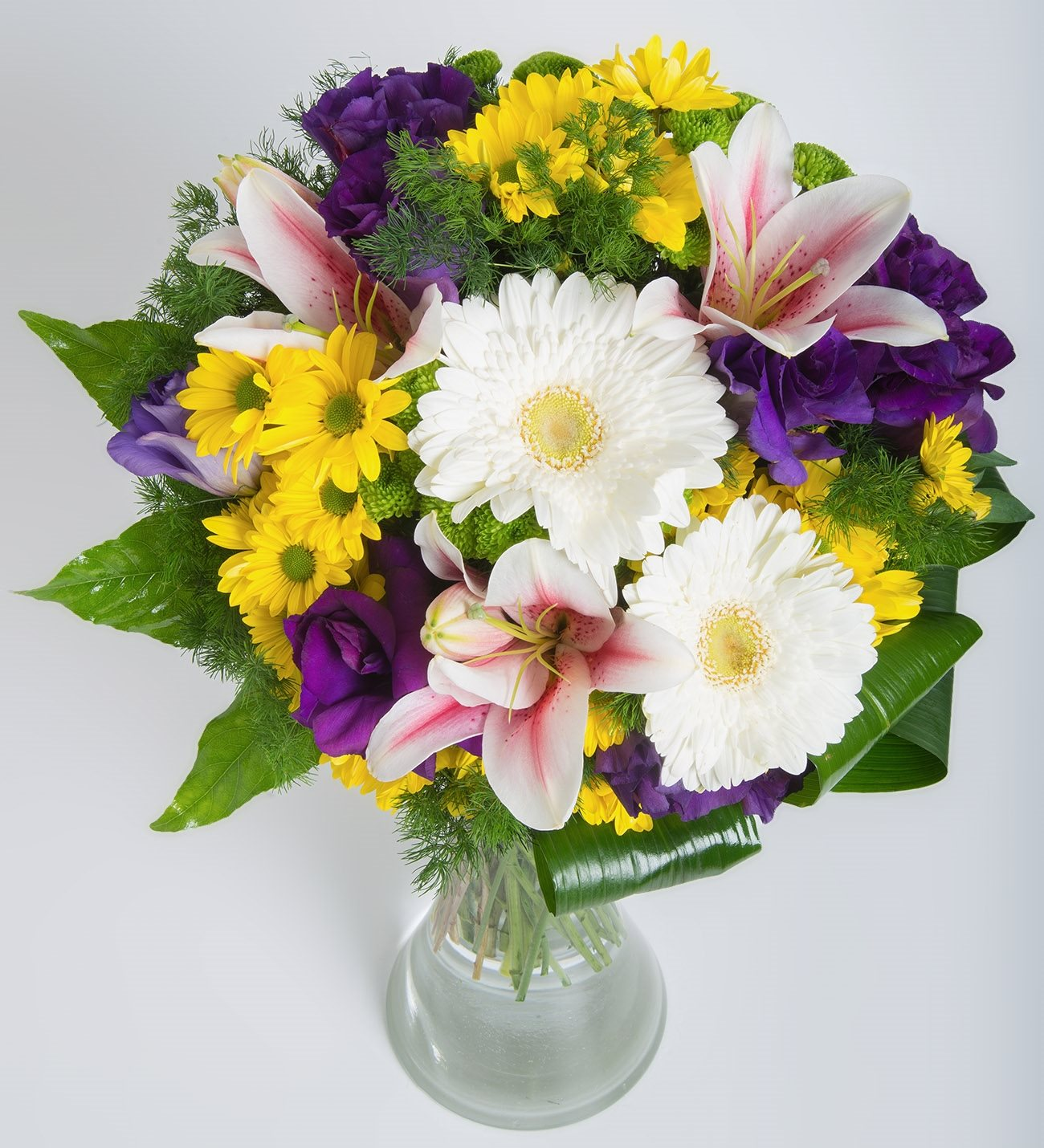 Lilies Gerberas Lisianthus And Daisies Symphony Of Colors