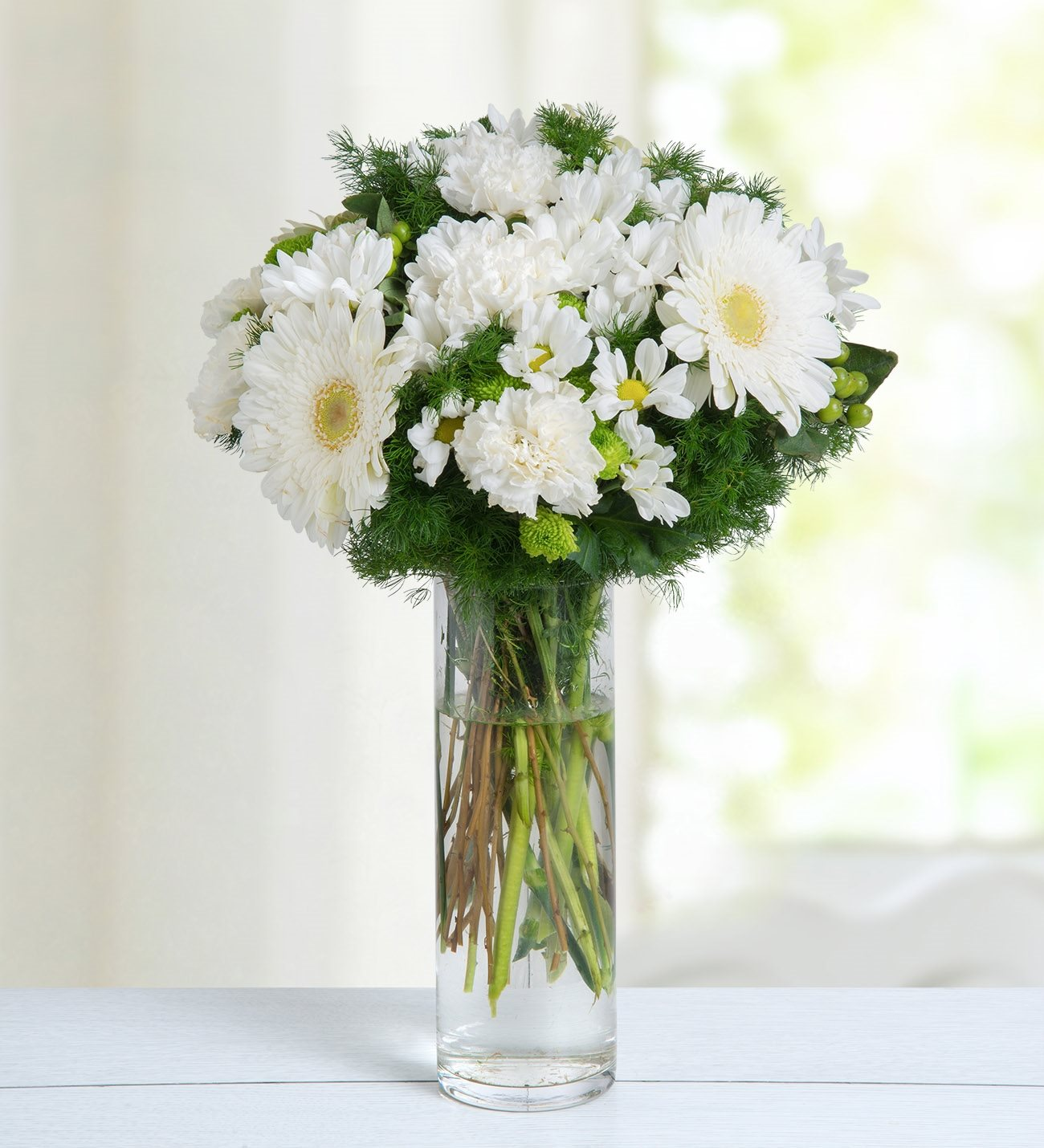 Gerberas carnations and daisies white bubble izmirmasajfo