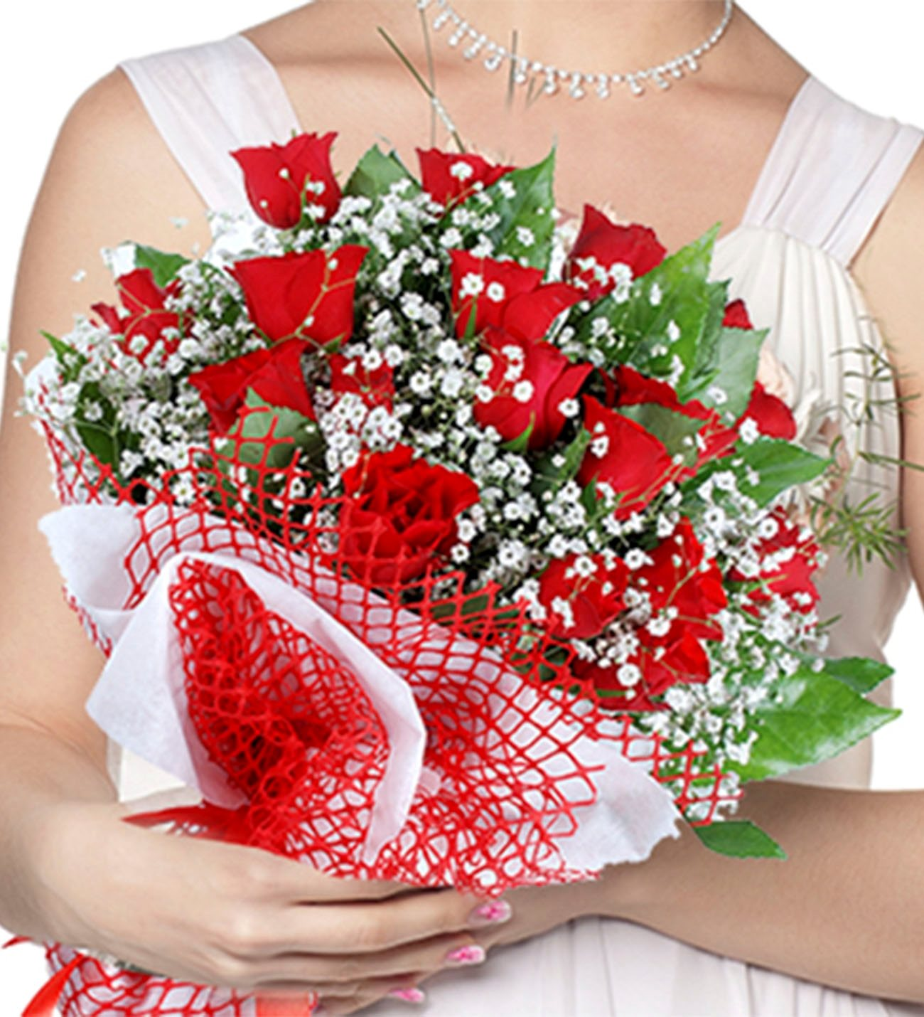 Bouquet of 21 Red Roses