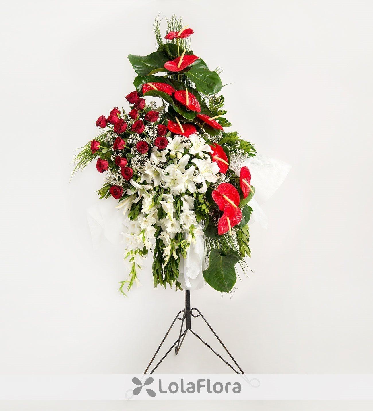 Anthurium Arrangement Mixed Flower Bouquet Lolaflora