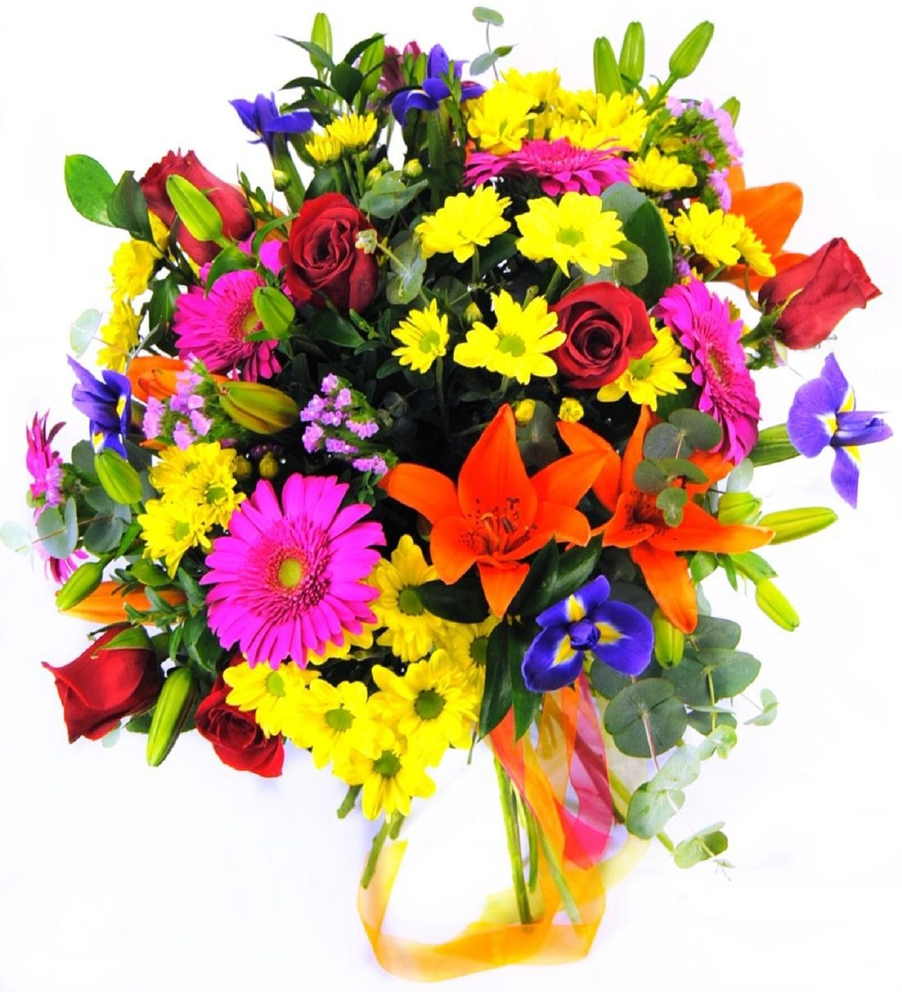 Seychelles roses lilies iris and gerberas seychelles roses lilies iris gerberas and daisies izmirmasajfo