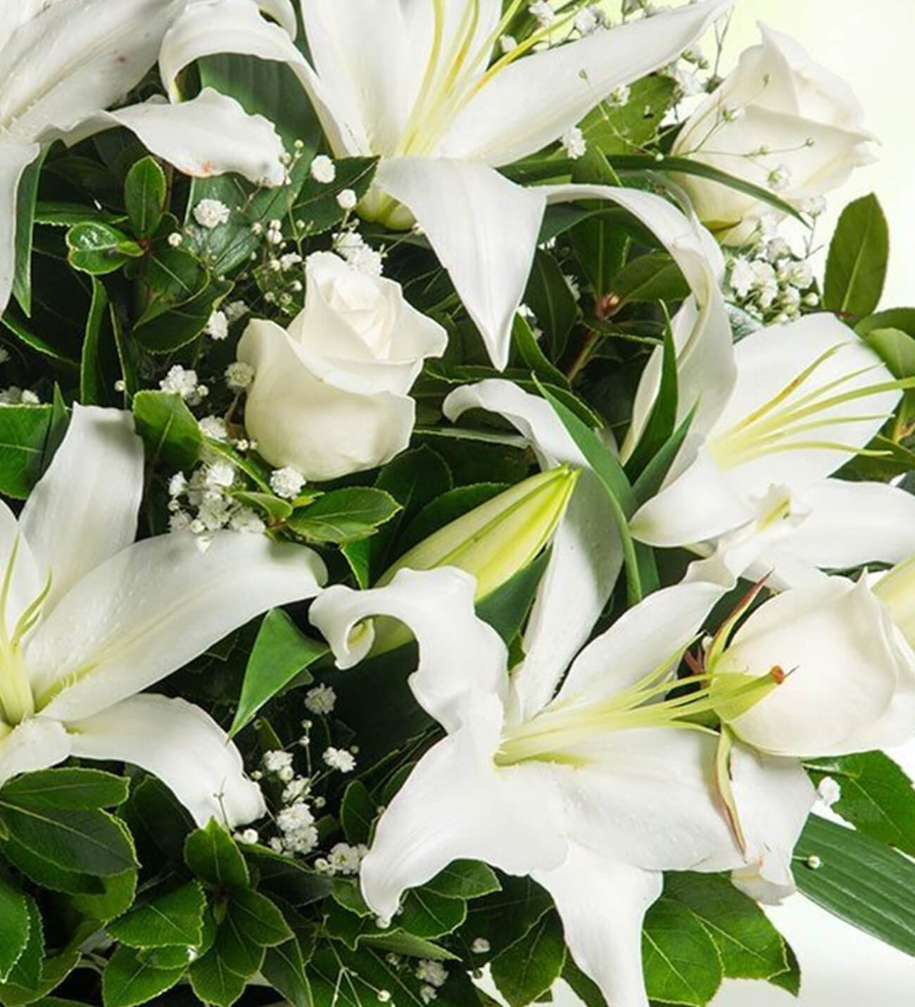 Personalized Lilies And Roses Arrangement